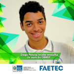 Aluno da FAETEC recebe medalha de ouro na Olimpíada Brasileira de Matemática