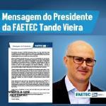 Carta do presidente da FAETEC: Tande Vieira