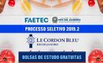Faetec e Le Cordon Bleu abrem seleção para novos bolsistas no curso Cordontec
